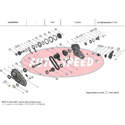KIT REPARACIÓN CAJA TRANSFER BMW ATC500