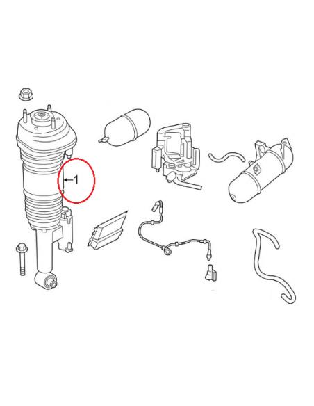 Amortiguador TRASERO izquierdo BMW Serie 7 G11/G12 4WD